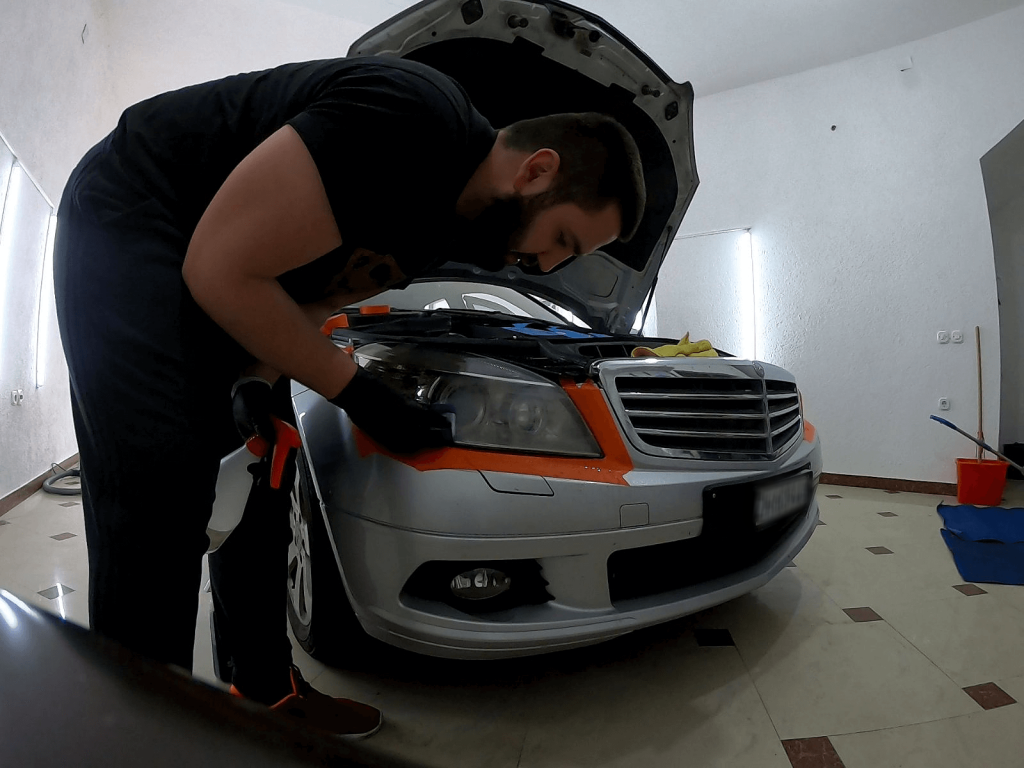 restoring headlights