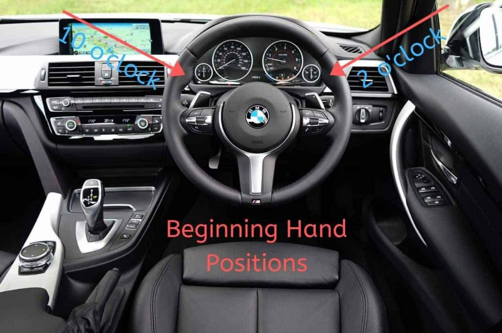 """10-and-2"" steering wheel hold"