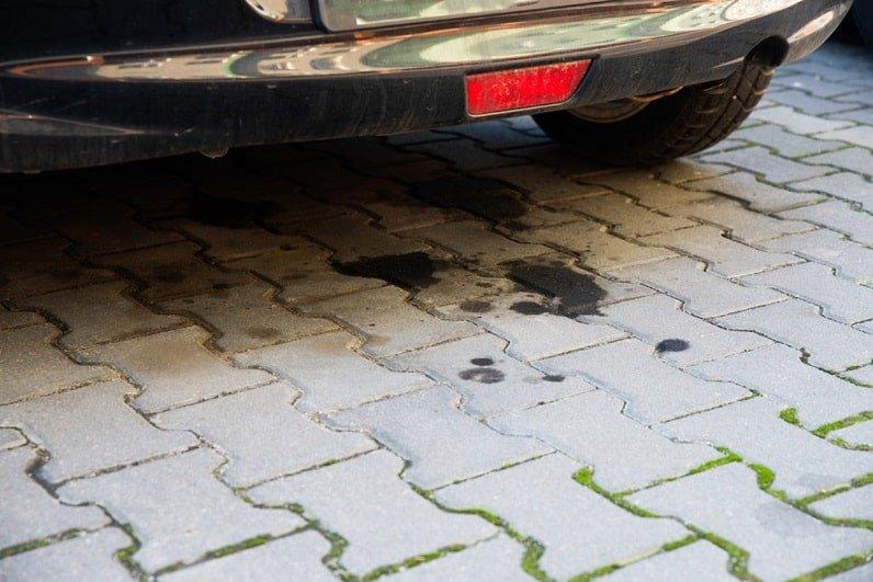 oil leak marks under your car hood