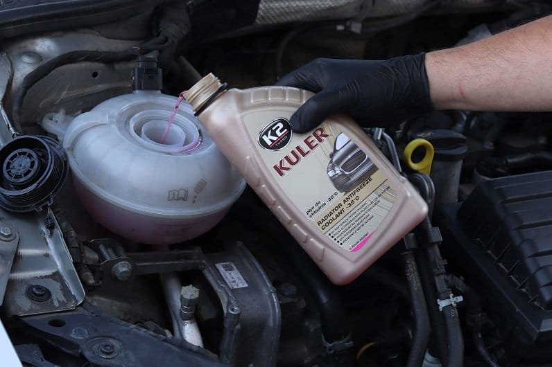 pure coolant or mixed with water to prevent overheating of your engine