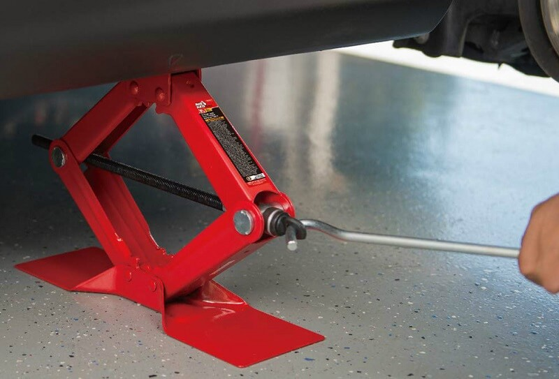 jack up your vehicle to lubricate your shocks and struts