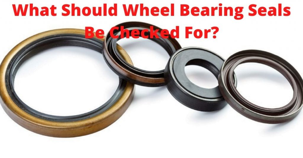 wheel bearing seals